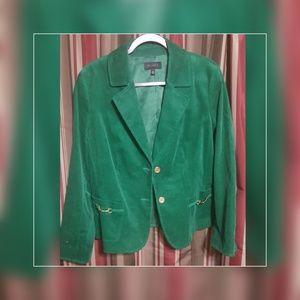 Green Curdoroy Blazer
